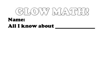 GLOW MATH! Center Cover page