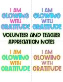 Glowing with Gratitude Classroom Volunteer and Teacher App