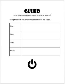 GLUED Disney Short Companion Worksheet