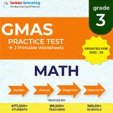 Online GMAS Practice test, Printable Worksheets, Grade 3 M