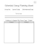 GMAS Prep - Extended Essay Planning Sheet