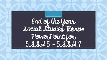 Review PPT for Cold War, Civil Rights, and 1975 to Today