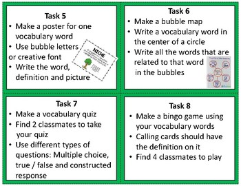 GMAS Science Vocabulary Task Cards Grade 5