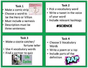 GMAS Science Vocabulary Task Cards (5th)