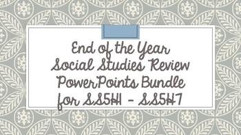 5th Grade Social Studies Review PPT BUNDLE