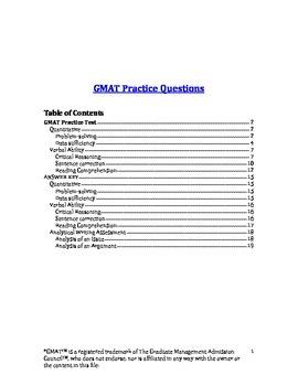 GMAT Practice Test 1