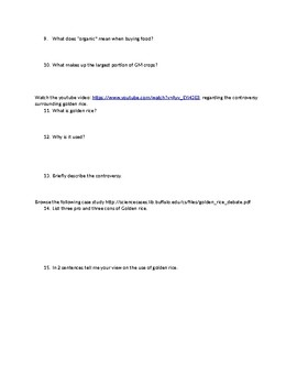 GMO Webquest