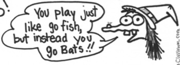 """GO BATS! Halloween Version of """"Go Fish"""" & Spooky Match Game Printables"""