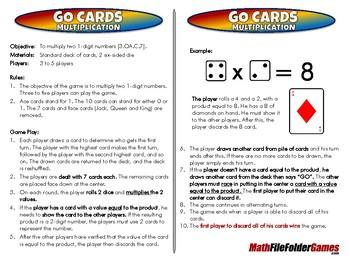 GO Cards Multiplication - 3rd Grade Math Game [CCSS 3.OA.C.7]