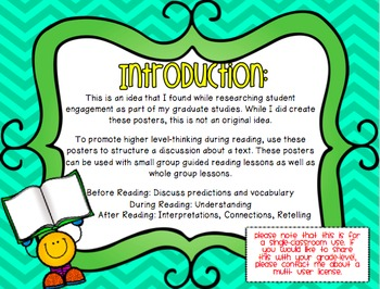 GO! Chart for Reading Comprehension: Posters for Student-Centered Discussions