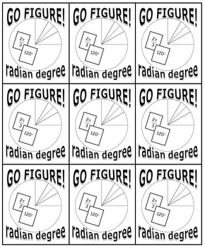 GO FIGURE! Card Game (Radians & Degrees in the Unit Circle)