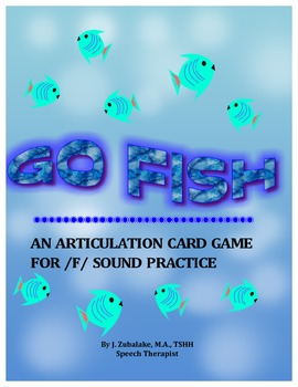 GO FISH Articulation Card Game for /F/ Practice-Speech Therapy