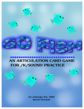 GO FISH Articulation Card Game for /K/ Practice-Speech Therapy
