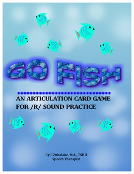 GO FISH Articulation Card Game for /R/ Practice-Speech Therapy