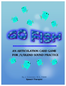 GO FISH Articulation Card Game for /S/ BLEND Practice- Speech Therapy
