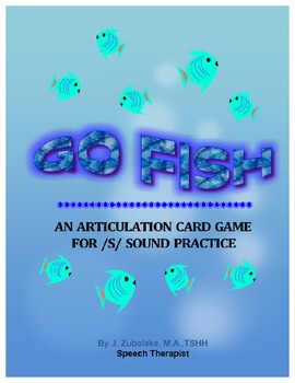 GO FISH Articulation Card Game for /S/ Practice- Speech Therapy
