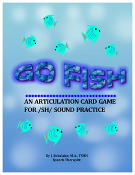 GO FISH Articulation Card Game for /SH/ Practice-Speech Therapy