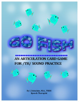 GO FISH Articulation Card Game for /TH/ Practice-Speech Therapy