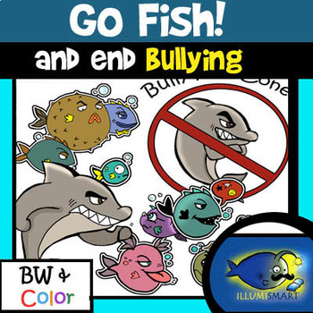 GO FISH! End Bullying! 20 Pc. Clip-Art Set!