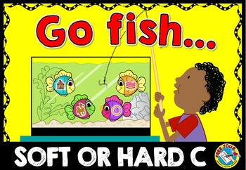 LETTER SOUND ACTIVITY (SOFT AND HARD C LETTER SOUND CENTER) GO FISH PHONICS GAME