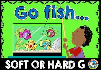 LETTER SOUND ACTIVITY (SOFT AND HARD G LETTER SOUND CENTER) GO FISH PHONICS GAME