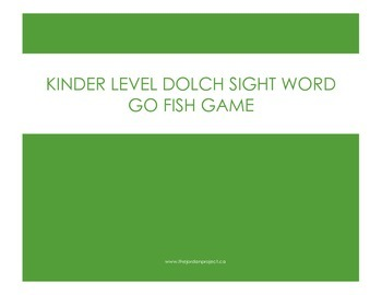 GO FISH Sight Word Game: Primer Dolch Words