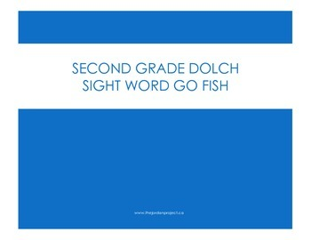 GO FISH Sight Word Game: Second Grade Dolch Words
