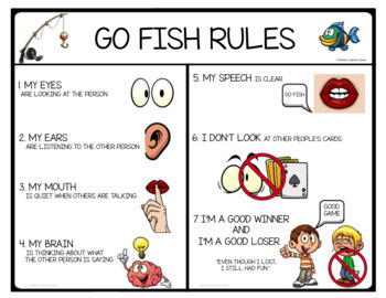 GO FISH VISUAL CUE MATS Speech Therapy AUTISM NO PREP