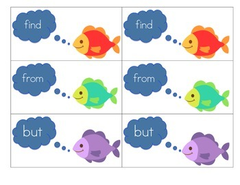GO FISH! game for Journeys Common Core 2014 High Frequency Words