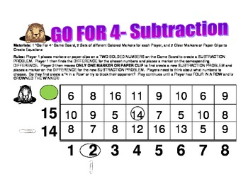 GO FOR 4- A Subtraction Game