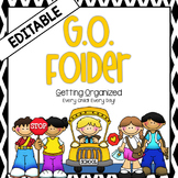 GO Folder - Parent Communication & Take Home Folder  EDITABLE