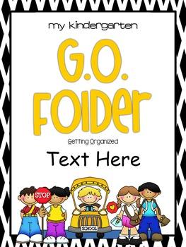 GO Folder - Parent Communication & Take Home Folder  EDITABLE