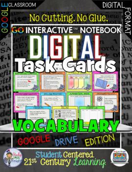 VOCABULARY DIGITAL TASK CARDS PAPERLESS GOOGLE DRIVE RESOURCE