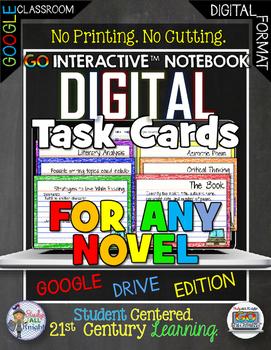ELA FOR ANY NOVEL DIGITAL TASK CARDS GOOGLE DRIVE PAPERLES