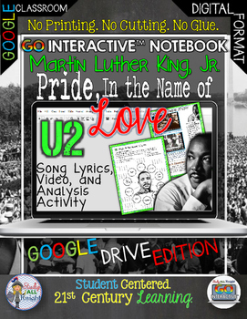 MARTIN LUTHER KING, JR., U2's PRIDE, IN THE NAME OF LOVE D