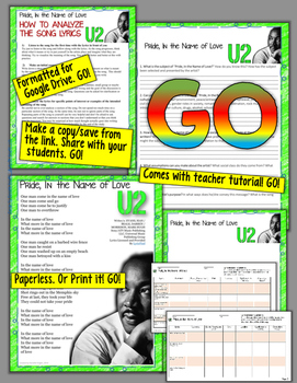 MARTIN LUTHER KING, JR., U2's PRIDE, IN THE NAME OF LOVE DIGITAL NOTEBOOK