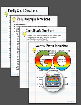FOR ANY NOVEL OR SHORT STORY DIGITAL NOTEBOOK PAPERLESS GOOGLE DRIVE RESOURCE