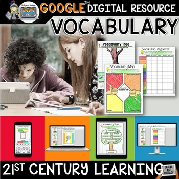 VOCABULARY ACTIVITIES DIGITAL NOTEBOOK PAPERLESS GOOGLE DRIVE RESOURCE