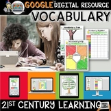 Vocabulary Activities Digital Notebook, Google Drive | Distance Learning