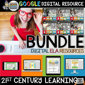 GOOGLE DRIVE PAPERLESS ACTIVITIES DIGITAL NOTEBOOKS FOR ELA BUNDLE
