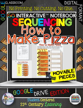 SEQUENCING HOW TO MAKE PIZZA DIGITAL NOTEBOOK PAPERLESS GOOGLE DRIVE RESOURCE
