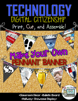 FREE DIGITAL CITIZENSHIP MAKE YOUR OWN PENNANT BANNER