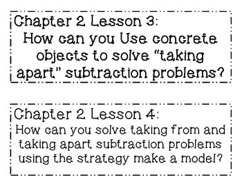 GO MATH! 1st Grade Chapter 2 Essential Questions