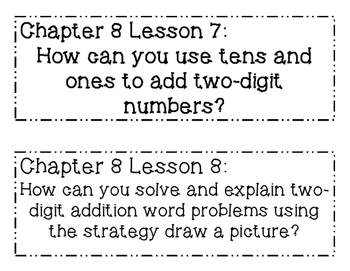 GO MATH! 1st Grade Chapter 8 Essential Question Posters