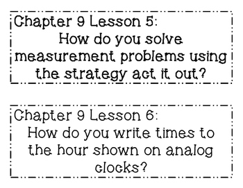 GO MATH! 1st Grade Chapter 9 Essential Question Posters