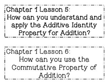 GO MATH! 1st Grade Essential Question BUNDLE Chapters 1-12