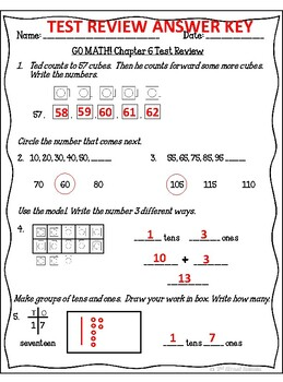 Go Math Answer Key Grade 1
