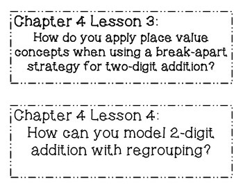 GO MATH! 2nd Grade Chapter 4 Essential Question Posters