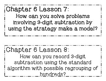 GO MATH! 2nd Grade Chapter 6 Essential Question Posters