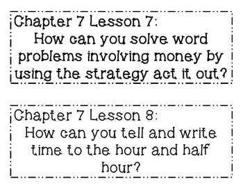GO MATH! 2nd Grade Chapter 7 Essential Question Posters